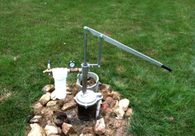 Simple Pump Customer Installation Deep Well Hand Pump Rock Surround