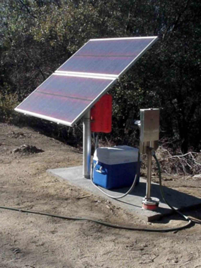 Simple Pump Customer Installation Solar Pump Mountain Retreat