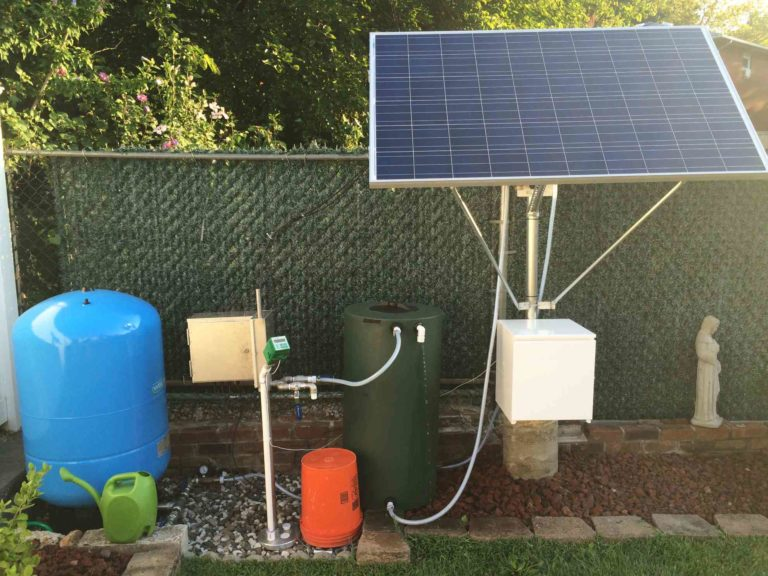 Simple Pump Customer Installation Solar Setup with Tank