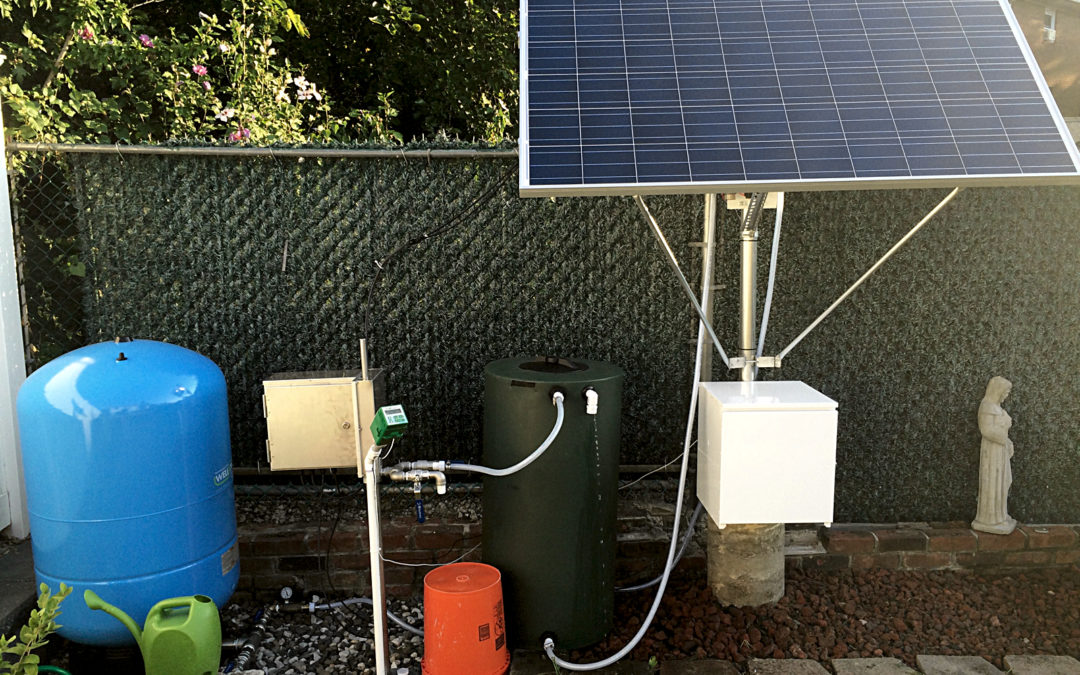 Simple Pump Solar Powered Water Pump Installation